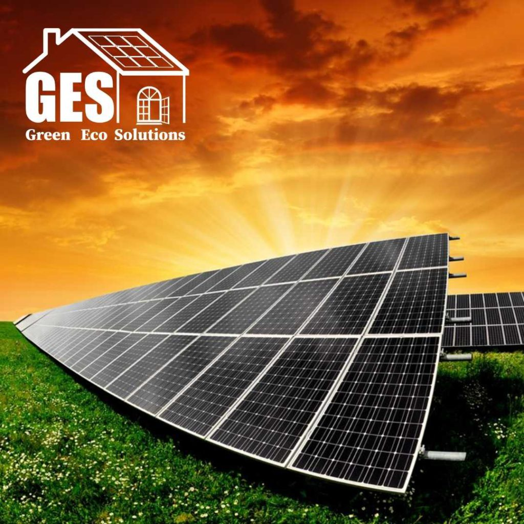 Green Eco Solutions Solar PV ground mount set up