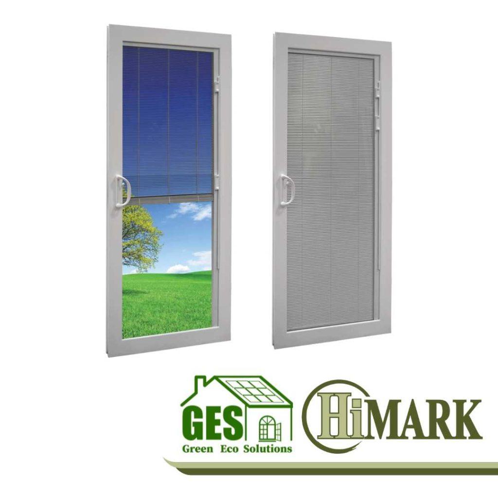 HiMark Mini Blinds for Energy Efficient Patio Doors with Green Eco Solutions