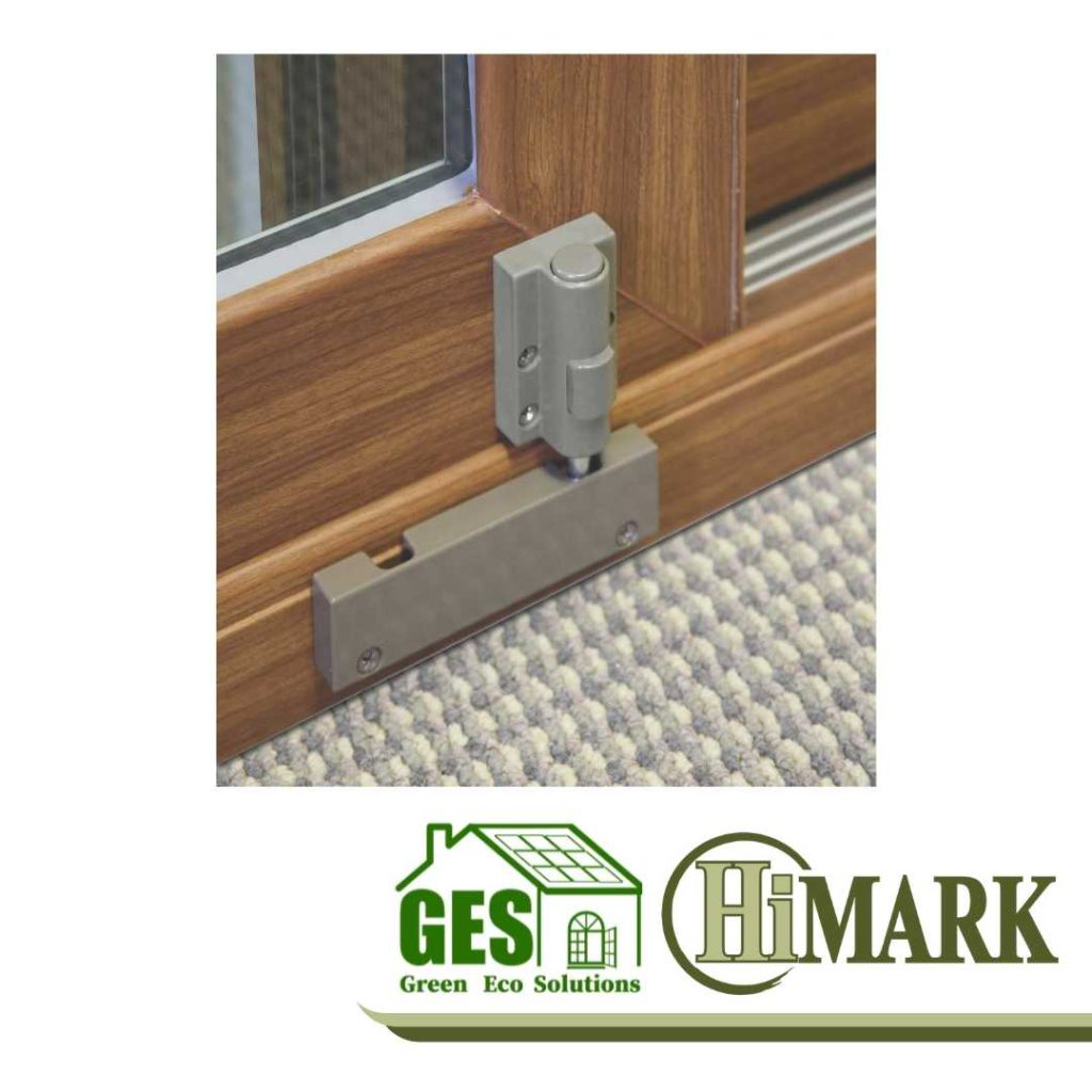 HiMark Push Button Spring Loaded Foot Bolt with Green Eco Solutions