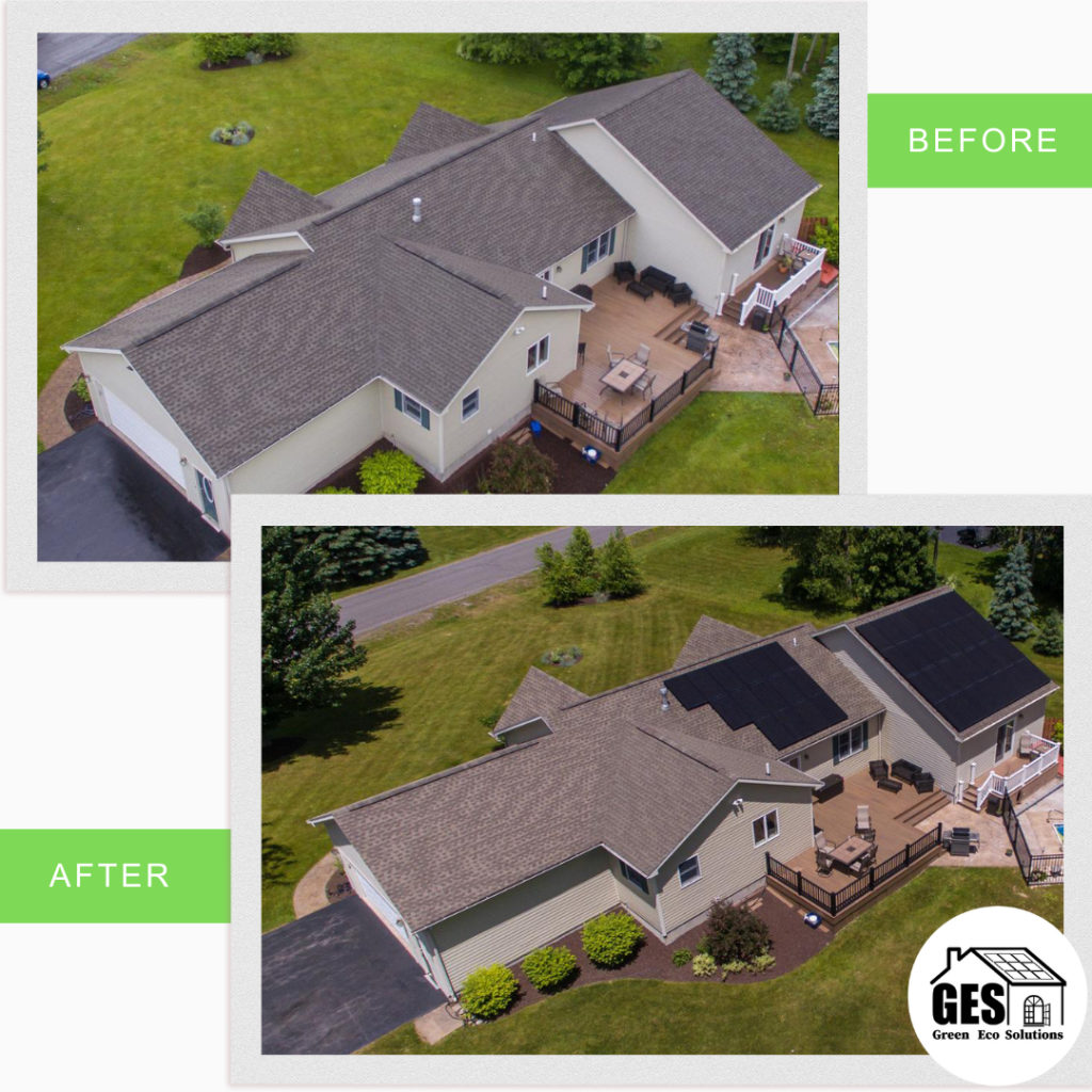 Roof Mounted Solar Panels In Allentown (Before and After)