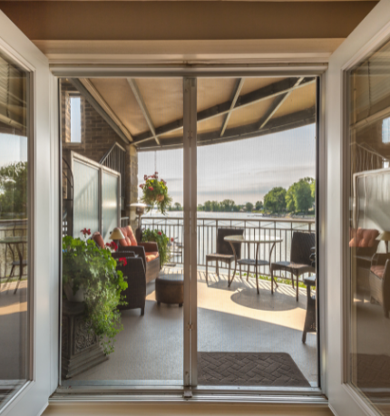 energy efficient custom sliding glass door replaced by Green Eco Solutions