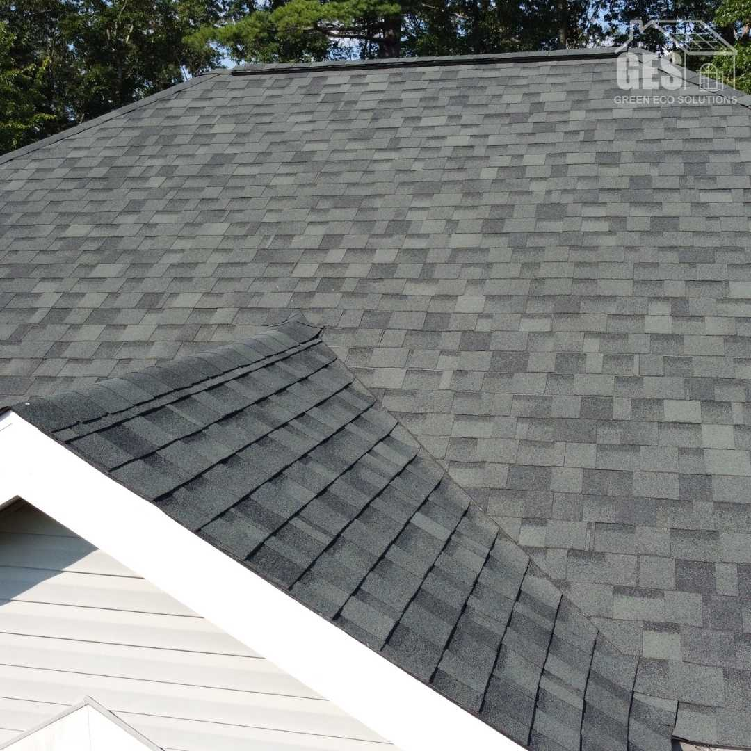 professional asphalt shingle replacement by Green Eco Solutions