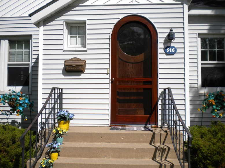 Arch top door replacement by Green Eco Solutions